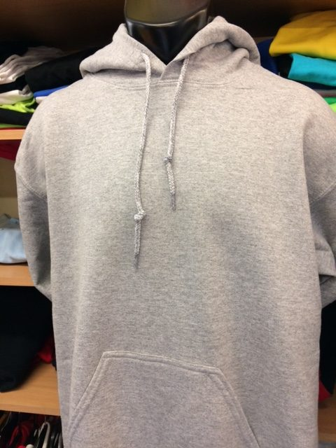 Eight Gildan heavy hoodies in sports grey all size small, an absolute bargain at....