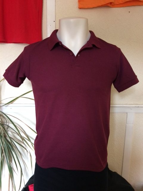 Children's Gildan Dry Blend polo shirt in maroon youth size Large and medium